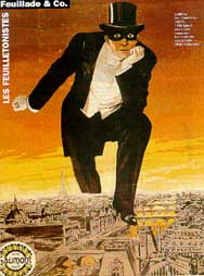 Poster for the first Fantômas serial